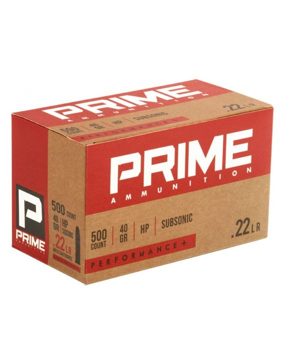 PRIME .22LR Subsonic HP 40GR PERFORMANCE+