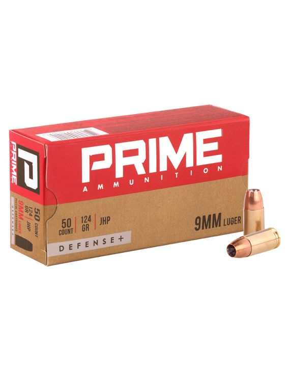 PRIME 9mm Luger JHP 124GR DEFENSE+ [CASE]